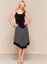 Stripe Print Handkerchief Midi Dress, , hi-res
