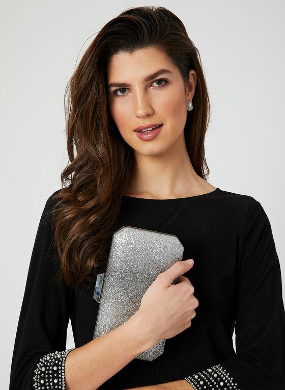 Robe en jersey à détails perlés, Noir, hi-res