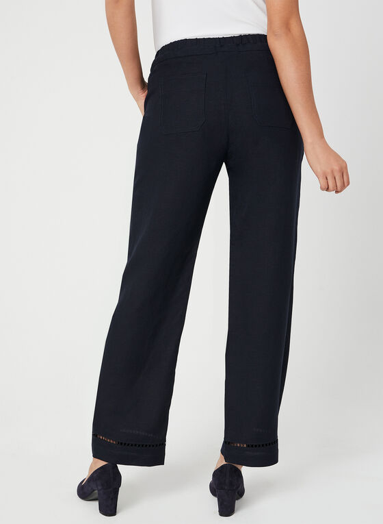 Modern Fit Wide Leg Pants, Blue