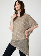 Asymmetric Poncho Top Camisole Set, Brown, hi-res