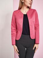 Studded Sateen Jacket, Pink, hi-res