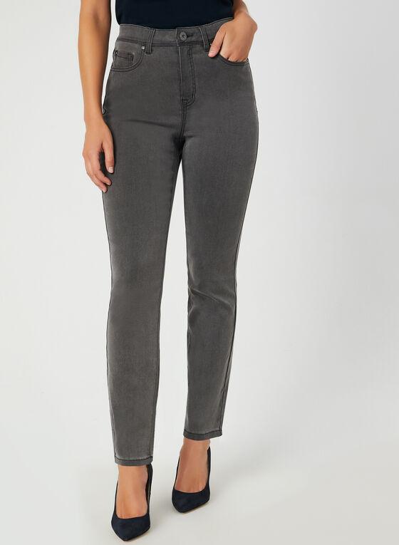 Signature Fit Straight Leg Jeans , Grey, hi-res