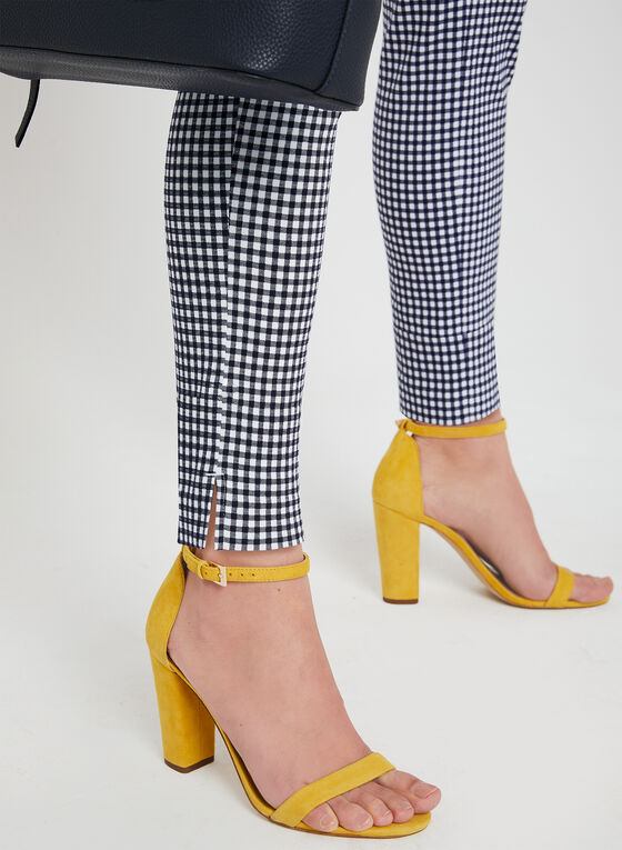 Modern Fit Gingham Pants, Blue