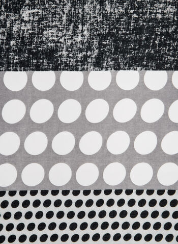 Dot Print Scarf, Grey, hi-res