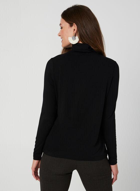 T-shirt à col roulé et manches longues, Noir, hi-res