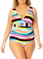 Anne Cole - Striped One Piece Swimsuit, Multi