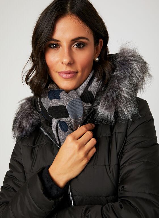 Manteau en duvet avec capuchon en fausse fourrure, Noir, hi-res