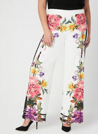 Joseph Ribkoff - Floral Print Wide Leg Pants, White, hi-res