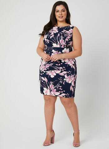 Floral Print Dress, Blue, hi-res,  sleeveless, layered, spring 2019