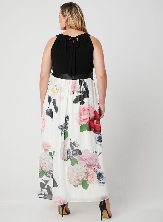 Cleopatra Neck Maxi Dress, White, hi-res