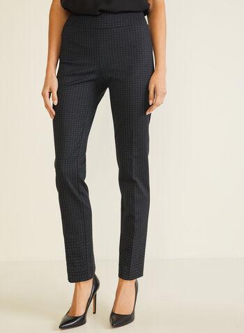 Pantalon pull-on étroit à pois, Noir,  pantalon, pull-on, étroit, point de rome, pois, automne hiver 2020