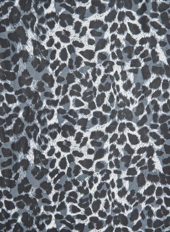 Animal Print Scarf, Grey, hi-res,  leopard print, square scarf, fall 2019, winter 2019