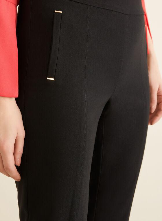 Pantalon coupe cité à jambe étroite, Noir