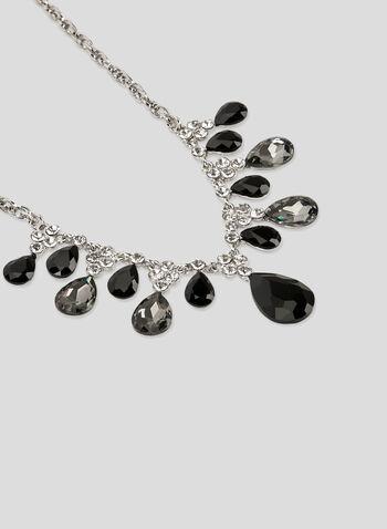 Teardrop Collar Necklace, Grey, hi-res