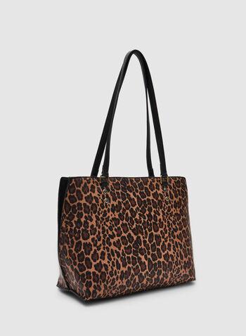 Leopard Print Tote, Black, hi-res,