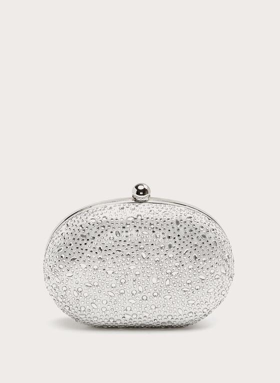 Minaudière ovale à cristaux , Argent, hi-res