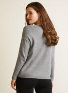 Polka Dot Dolman Sleeve Sweater, Grey
