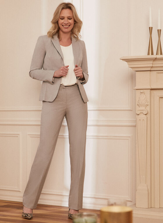 Louben - Single-Button Notch Collar Jacket, Grey