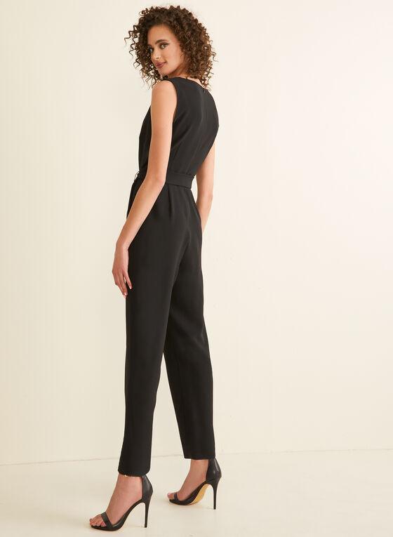 Ruffle Detail Sleeveless Jumpsuit, Black