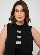 Joseph Ribkoff - Sleeveless Scuba Dress, Black, hi-res