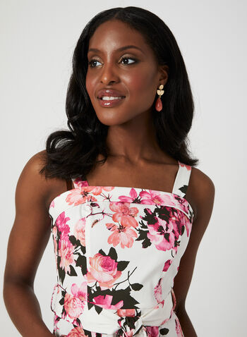Floral Print Cotton Dress, Pink, hi-res