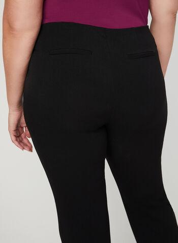 Pantalon coupe moderne à jambe droite, Noir,