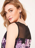 Floral Print Sleeveless Blouse , Purple, hi-res