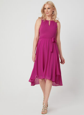 Jessica Howard - Robe asymétrique en mousseline , Rose, hi-res