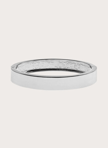 Sleek Metal Bangle, Silver, hi-res