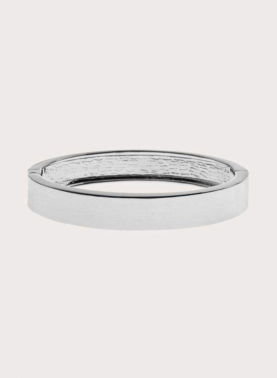Sleek Metal Bangle, Silver, hi-res