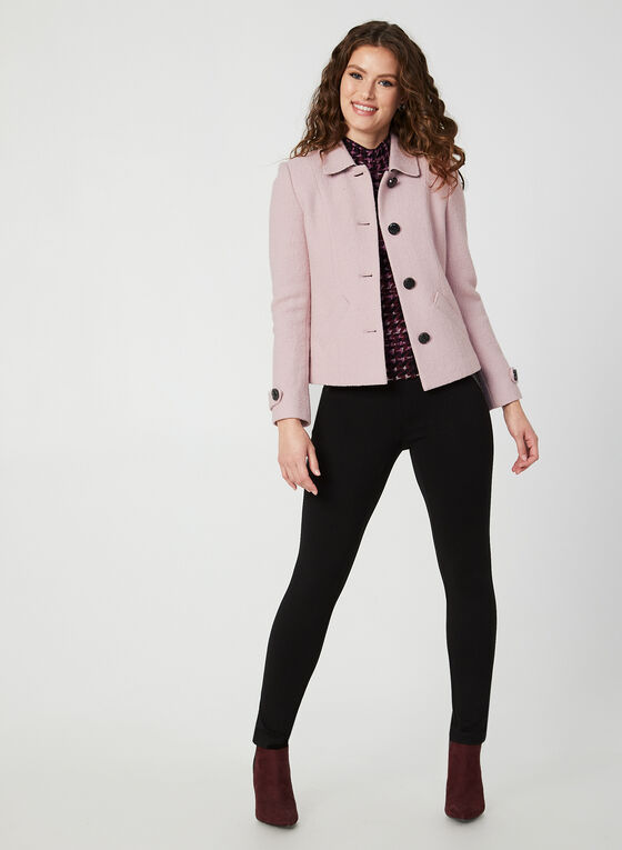 Textured Wool Jacket, Purple