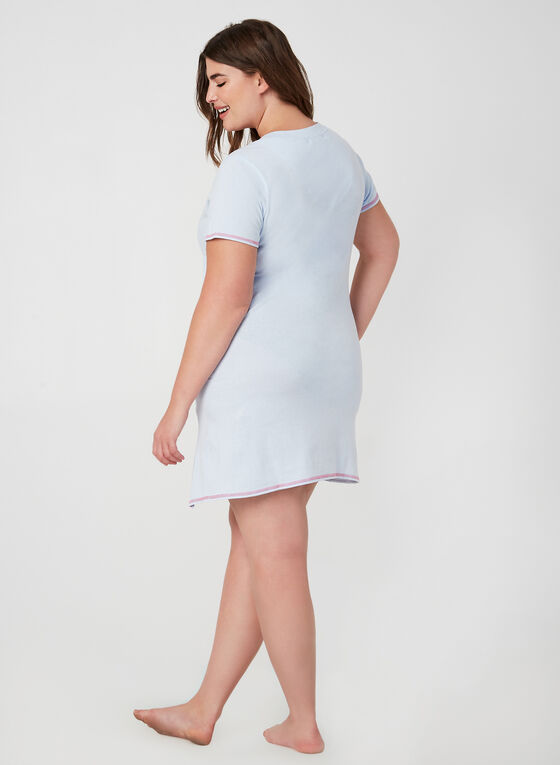 René Rofé - Short Sleeve Nightgown, Blue, hi-res