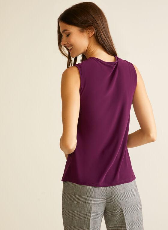 Sleeveless Twist Detail Top, Purple