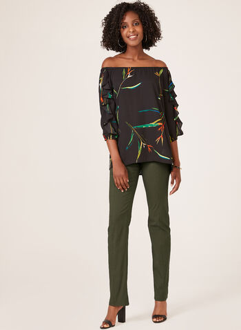 Simon Chang –Signature Fit Straight Leg Pants, Green, hi-res
