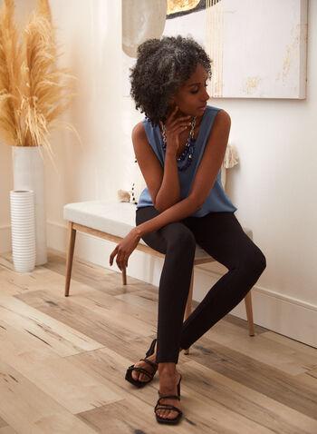 Legging à enfiler , Noir,  legging, caleçcon, pantalon, bas, extensible, pull-on, à enfiler, cheville, automne 2021