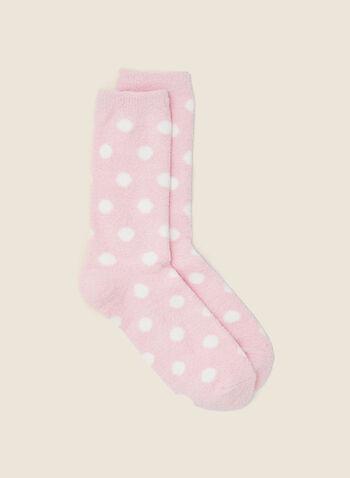 Chaussettes à motif pois, Rose,  automne hiver 2020, bas, chaussettes, pois, motif, accessoire