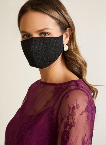 Floral Print Mask, Black,  mask, protective, reusable, washable, leopard, spring summer 2020