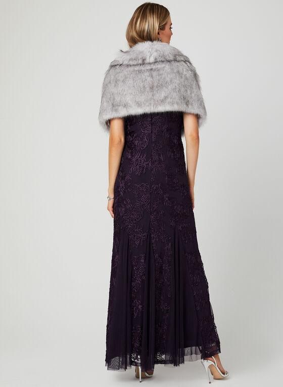 Faux Fur Shawl, Purple