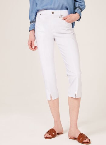Simon Chang –Signature Fit Straight Leg Capri, White, hi-res