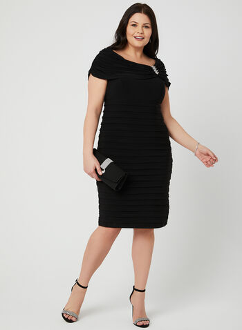 Empire Waist Jersey Dress, Black, hi-res
