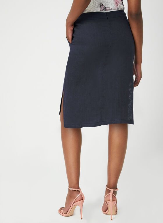 Mode de Vie - Linen Skort, Blue, hi-res