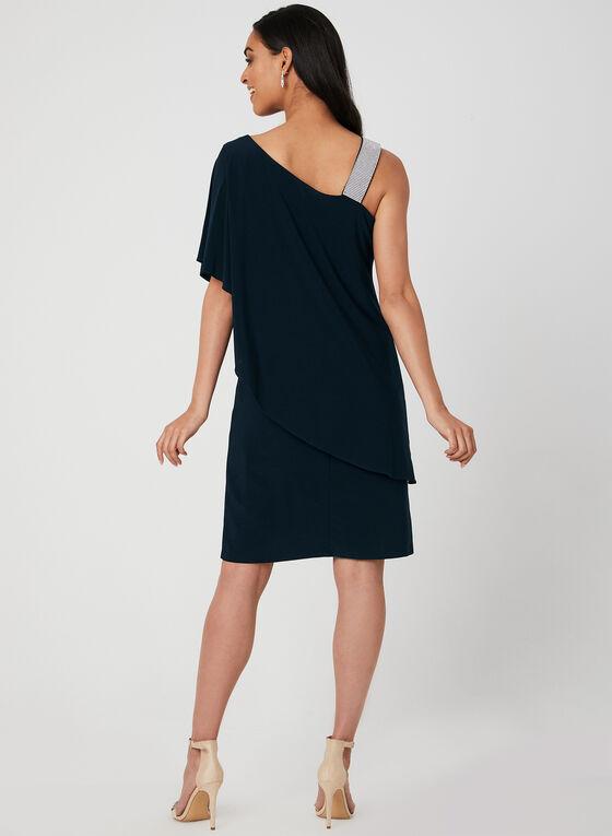 One Shoulder Dress, Blue, hi-res