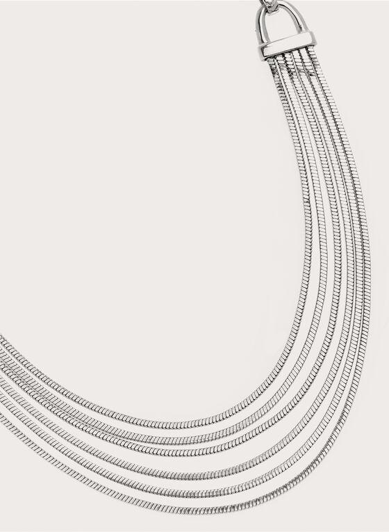 Collier à chaînes et larges maillons, Argent, hi-res