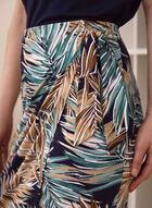 Tropical Print Pull On Skirt, Green