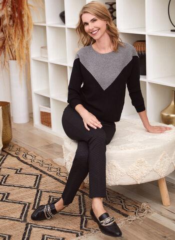 2-Tone Dolman Sleeve Sweater, Grey,  sweater, dolman, contrast, two tone, boat neck, fall winter 2020