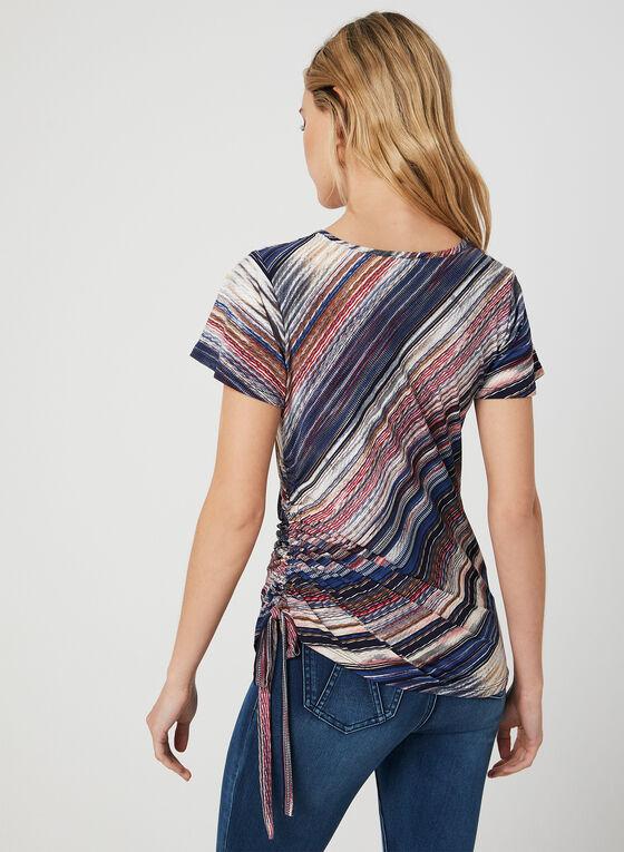 Diagonal Stripe Print Top, Blue, hi-res
