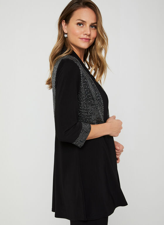 Glitter Detail Pantsuit, Black
