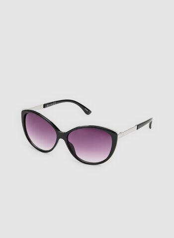 Cat Eye Sunglasses, Black, hi-res