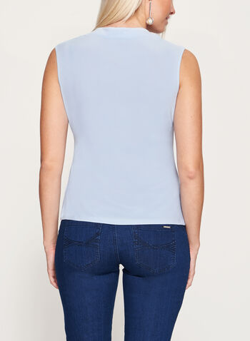 Sleeveless V-Neck Top, , hi-res