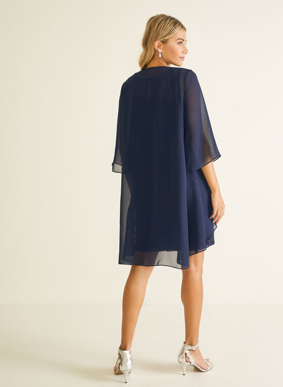 Lace Dress With Cover-Up, Blue